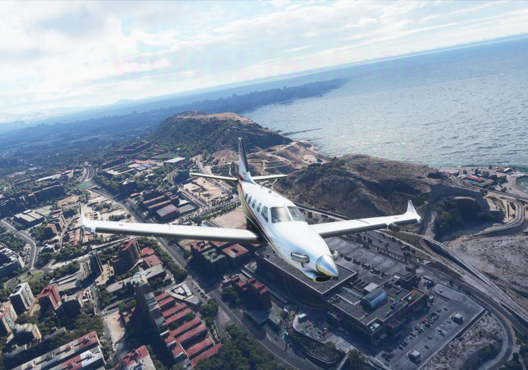 На прошлой неделе Flight simulator  выпустил версию Альфа-4