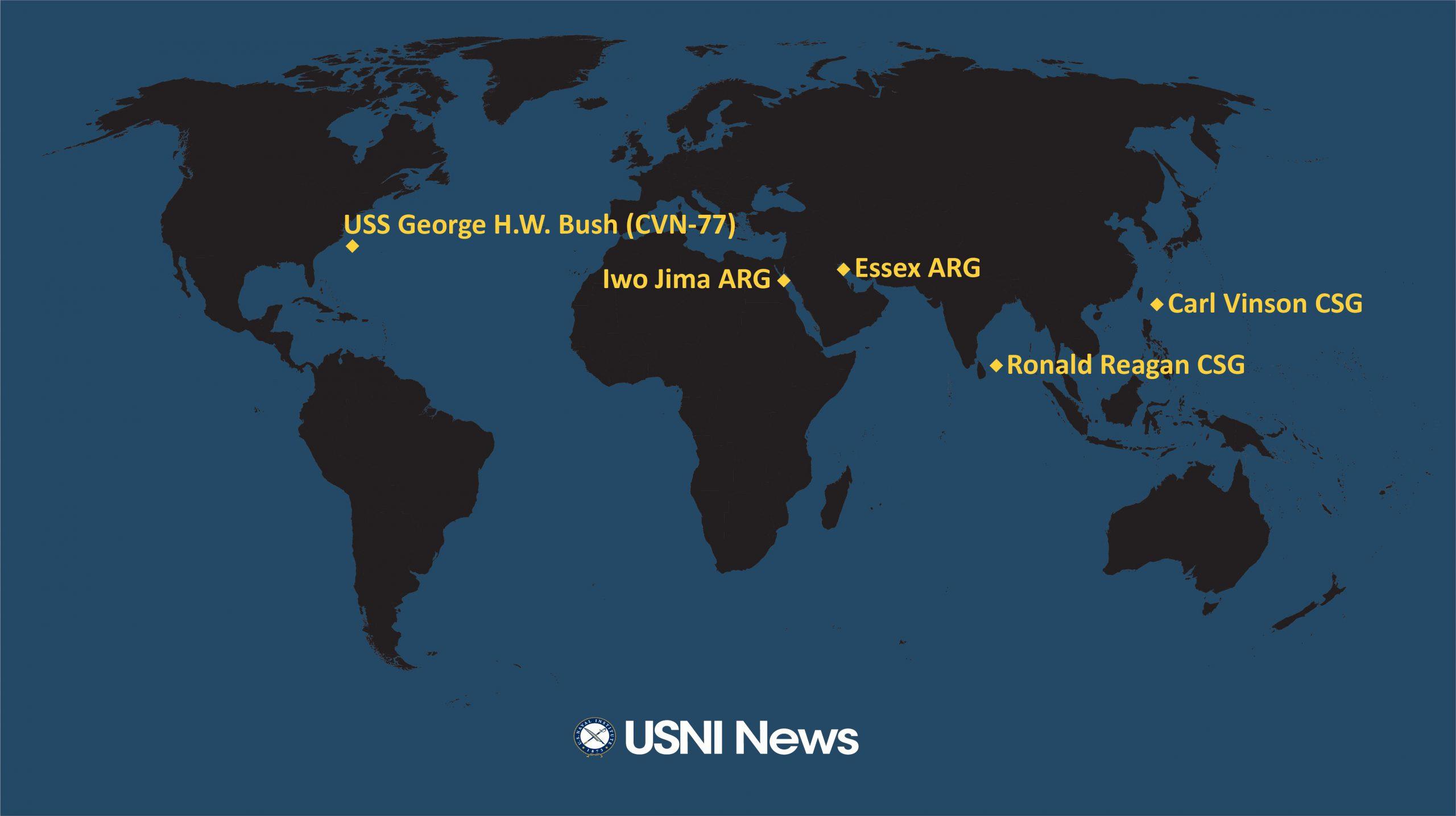 НЕ ИГРОВАЯ ЛИНИЯ РАЗВЕРТЫВАНИЯ АВИАНОСНЫХ УДАРНЫХ ГРУПП ВМС США НА 2021